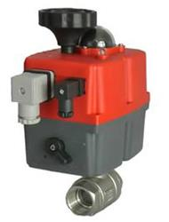 110/240V SS 2 Piece Ball Valve with J+J Actuator, Failsafe