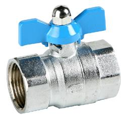 Brass Ball Valve | Genebre 3035 | FB F x F Brass Ball Valve Thumb grip Blue BSP