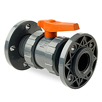 PVC Ball Valve EPDM Flanged Metric End