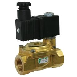 Brass Solenoid Valve Normally Closed Pilot Operated FKM BSPP