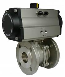 Pneumatic actuated stainless steel PN16 ball valve