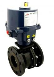 Actuated Cast Iron 2 way ball valve with Sun Yeh Actuator