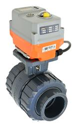 Actuated Ball Valves in PVC