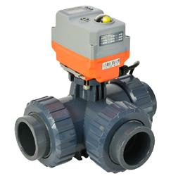 PVC 3 way Ball Valves