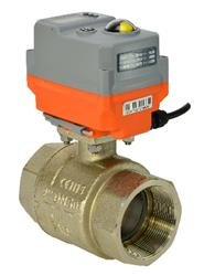 Brass Electrically Actuated Ball Valve