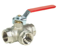 Reduced Bore 3 Way T Port ball valve