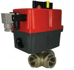 Brass 3 Way Ball Valve & Electric Actuator