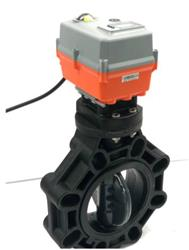 Cepex Electric Actuated Butterfly Valve CPVC Disc