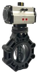 Cepex Actuated Butterfly Valve PVDF Disc