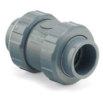 PVC Spring Check Valve Plain End Viton
