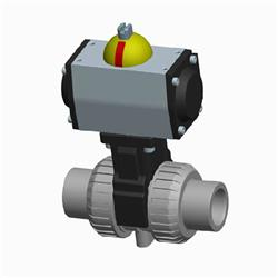 Cepex CPVC Pneumatic Actuated Ball Valve