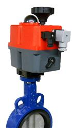Cast Iron Butterfly Valve with J+J J4CS Electric Actuator