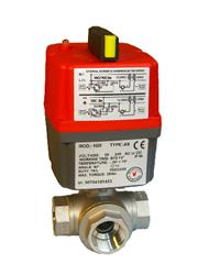 110/240V SS S.E. 3 Way T Diverting, J+J Electric Actuator, On-Off