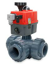 3 way PVC Electric Actuated Ball Valve