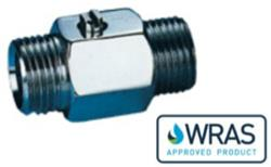 M x M Screwdriver Chrome Mini Ball Valve