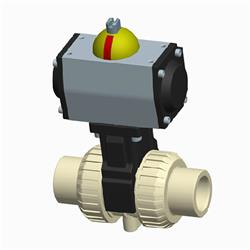Cepex PP Pneumatic Actuated Ball Valve