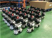 Pneumatically Actuated FIP PP Ball valves with limit switchbox and namur solenoid valve. All assembled and tested in house