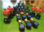 Regular electrically actuated ball valves project using J+J electric failsafe actuators and Genebre flanged ball valves