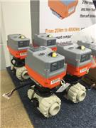 AVA Smart actuators, modulating function fitted with FIP PP VKR Metering ball valves