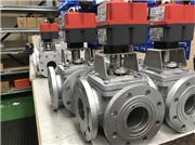 J+J electric actuated ball valves, with cast iron 3 way ball valves