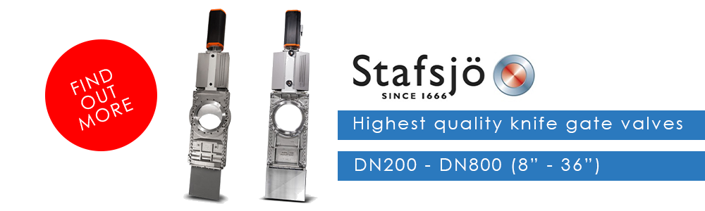 Stafsjö - Highest quality knife gate valves DN200 - DN800