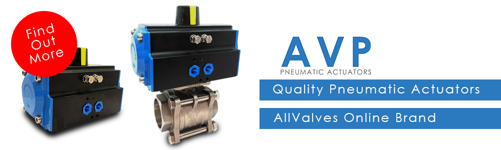 AVP - Quality Pneumatic Valve Actuators from the All Valves online Brand