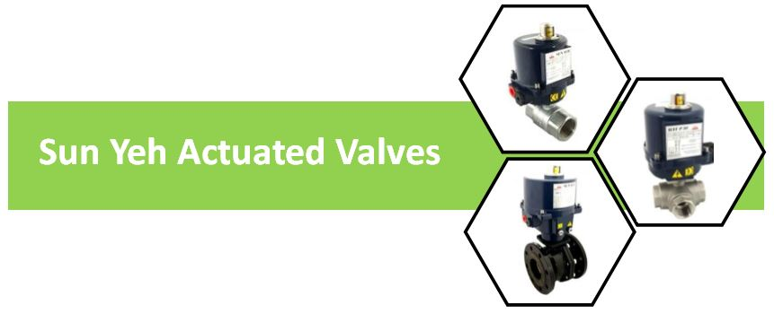 sun yeh actuated valves